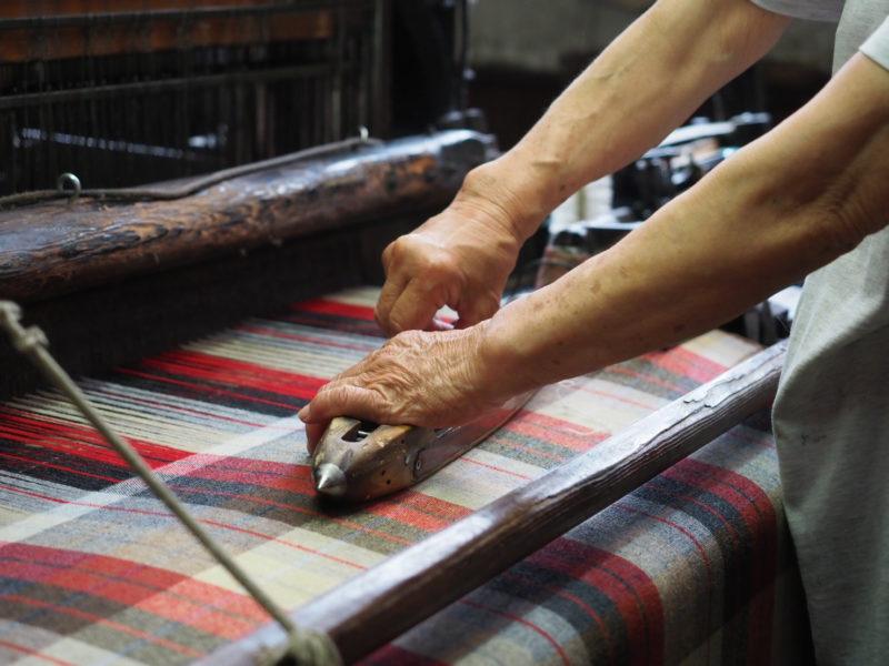 Beringia Masters of Bishu Weaving of Plaid Fabric