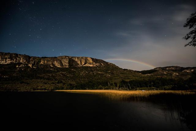 Austin Trayser Photography - Full Moon Rainbow, Chile